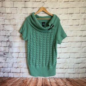 Torrid Sweater, Cowl Neck, Seafoam Torrid 3(22-24)